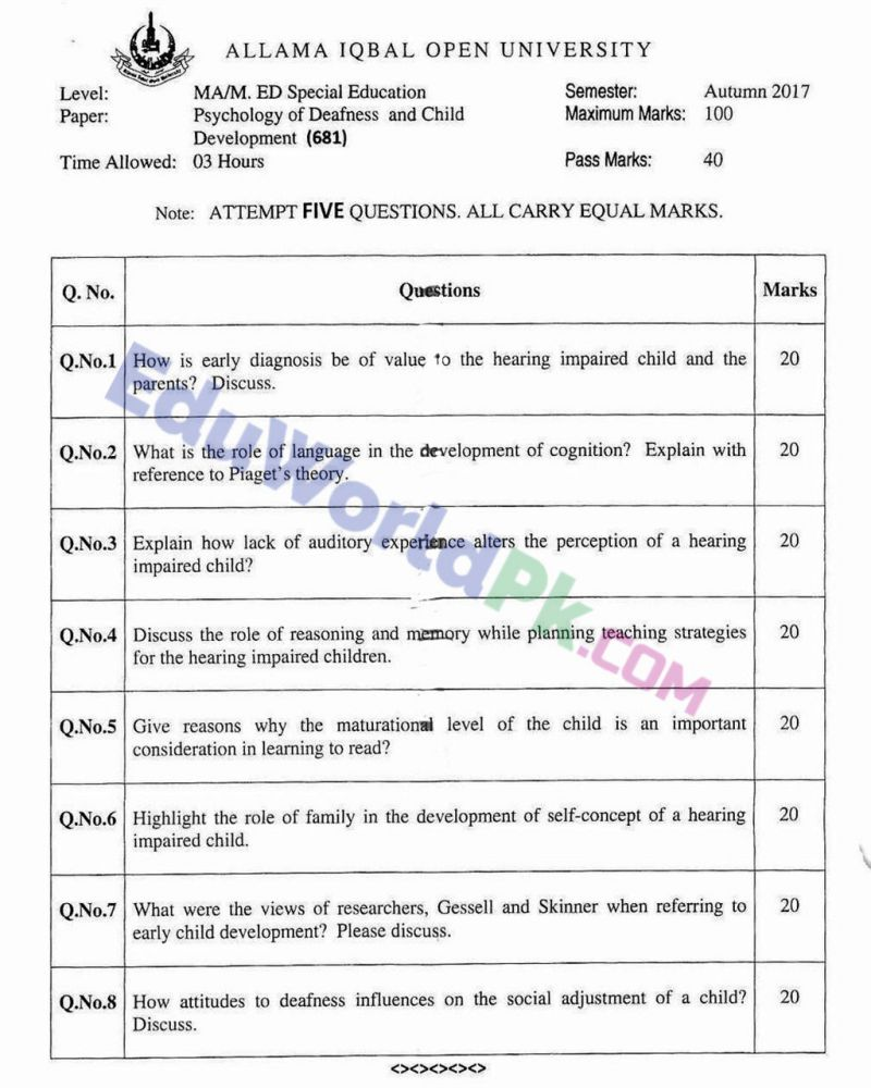 AIOU-MEd-Code-681-Past-Papers-Autumn-2017