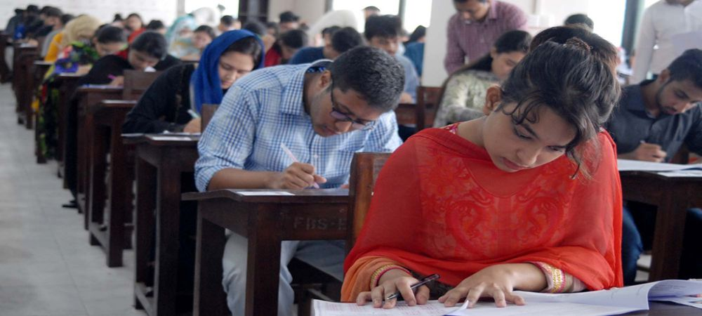 AIOU Students during exam 2019