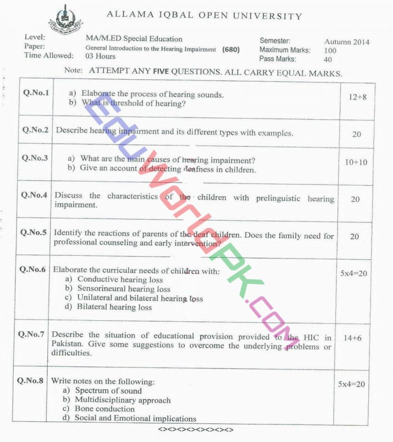 AIOU-MEd-Code-680-Past-Papers-Autumn-2014