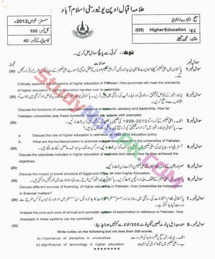 AIOU-MEd-Code-828-Past-Papers-Autumn-2012