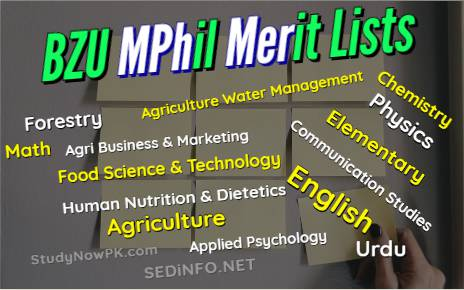 BZU Multan MPhil Merit Lists Latest fi
